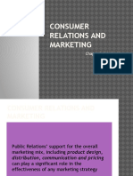 Consumer Relations and Marketing