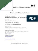 Ponencia de Lectoescritura, Congreso de Ciencia y Tecnología, Morelia 2010
