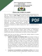 Majumuisho ya Ziara ya Mkuu wa Mkoa Wilayani - Ngorongoro