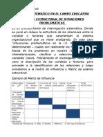 Fenómeno en El Campo Educativo- Modelo Matemático