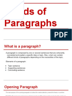 Kinds of Paragraph