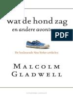 Wat de Hond Zag - Malcolm Gladwell