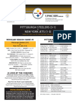 New York Jets At Pittsburgh Steelers (Oct. 9)