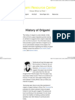 History of Origami From Past t