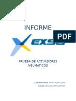 Informe Pruebas Actuadores n
