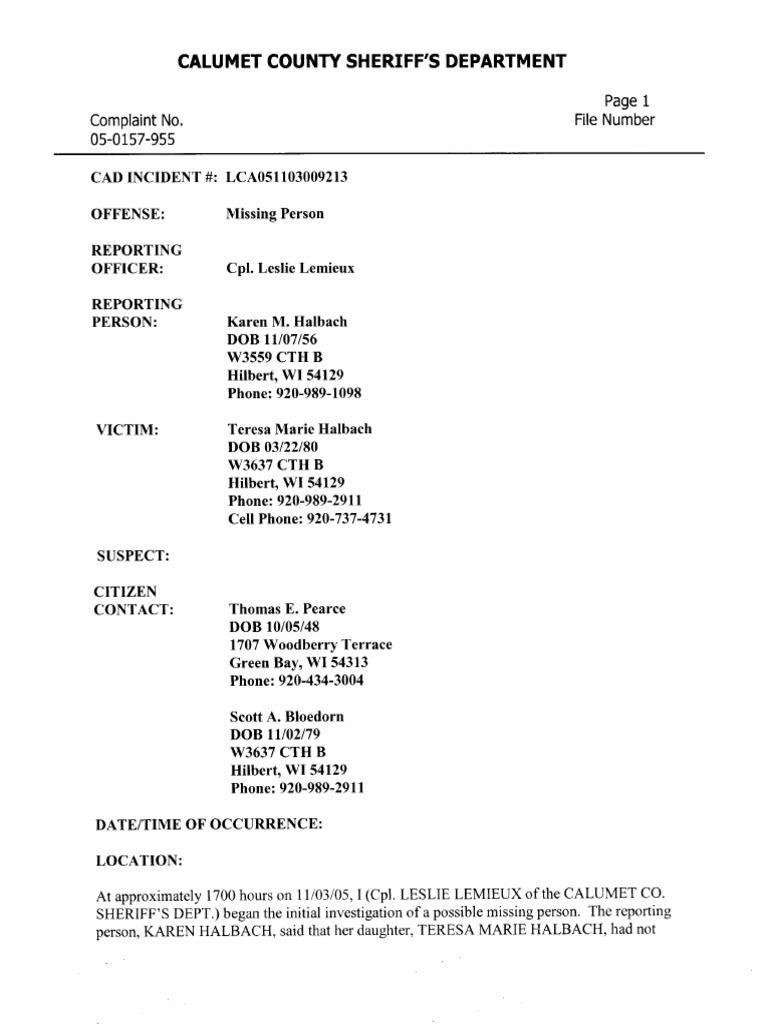 Caso Investigative Report Steven Avery Voicemail
