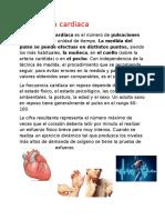 Frecuencia cardiaca resumen
