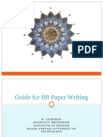 How to write a ISI paper