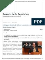 Cubrir Pago Retroactivo de Jubilados y Pensionados Del ISSSTE , Plantea Senador Enrique Mayans