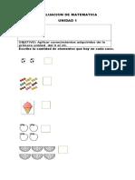 Evaluacion de Matematica Unidad 1