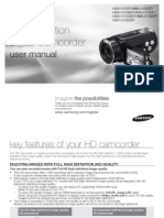 Samsung Camcorder HMX-H104 User Manual