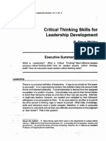 Critical Thinking Skills for Leadership Development