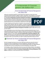 Management of edition financial pdf horne fundamentals van 13th