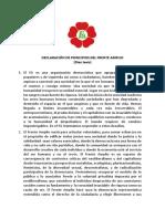 Declaración de Principios FA
