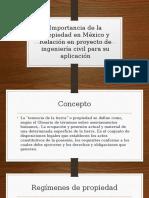 Importancia de La Propiedad en México y Relación