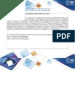 Guía de Actividades y Rúbrica de Evaluación Fase 1 Axiomas de Probabilidad