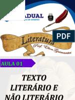 Aula 01 - Texto Literário e Não Literário