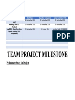 Team Project Milestone