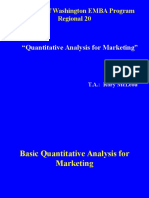 Quantitative Analysis for Marketing