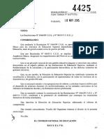 4425-15 CGE Modificaciones Regimen Academico Marco Institutos de Educ. Superior