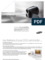 Samsung Camcorder VP-DX200 User Manual