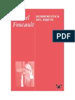 Foucault Michel - Hermeneutica Del Sujeto