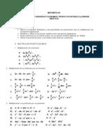 Taller de Polinomios y Productos Notables
