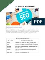 SEO WordPress Uso de Palabras de Transición