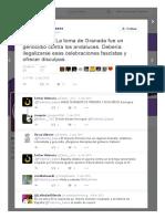 Podemos Bases on Twitter_ _#NoAlaToma La Toma de Granada Fue Un Genocidio Contra Los Andaluces
