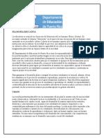 Filosofía Educativav del Departamento de Educacion de PR y Filosofia del Programa de y Ts