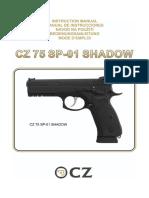 Manual de Instrucciones Cz 75 Sp 01 Shadow Es