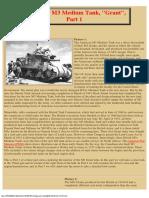 USBritish M3 Medium Tank, Grant,