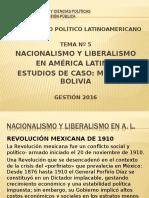 Nacionalismo y Liberalismo