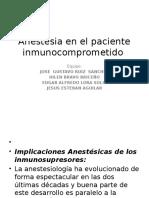 Anestesia en El Paciente Inmunocomprometido