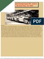 German Panzerkampwagen III, Ausf.J, Part 1, Revised May 25, 2002