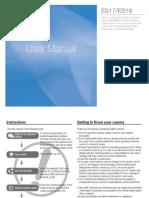 Samsung Camera ES17 User Manual