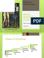 An argument about dementia