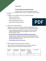 1- GUIA PARA LA REALIZACIÓN DEL PROYECTO DE LA INVESTIGACIÓN