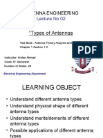 Lecture 02 Antenna Types