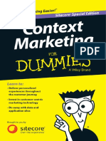 Context Marketing for Dummies Sitecore Rev