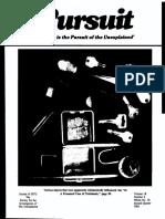 PURSUIT Newsletter No. 70, Second Quarter 1985 - Ivan T. Sanderson