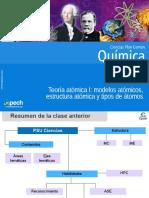 Clase 2 Teoria Atómica I Modelos Atómicos, Estructura Atómica y Tipos de Átomos 2016