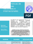 Características de Las Normas Nacionales e Internacionales
