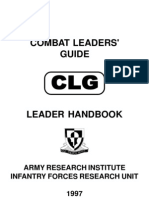 Army Research Institute - Combat Leaders' Guide