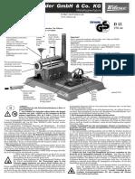 D12 Wilesco Steam Engine