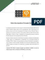 Entrevista al doctor Fernando Zalamea