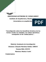 Techos Verdes Investigacion