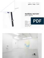 Mathieu Mercier - Some Shows