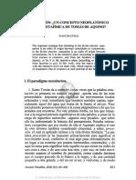Emanación, Un Concepto Neoplatónico en La Metafísica de Tomás de Aquino, Juan Cruz Cruz