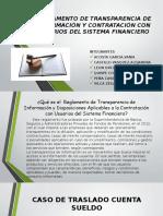 Reglamento de Transparencia de Información y Contratación